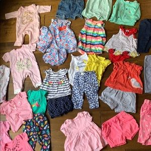 Huge 31 Piece Bundle Baby Girl Clothes